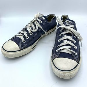 Converse Unisex Navy Canvas Low Top Sneakers